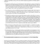 Carta de médicos ante la situación de la Cañada