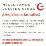Entidades y vecinos se organizan para despejar las calles en Rivas