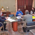 Reunión del delegado del Gobierno en Madrid con el alcalde de Rivas