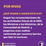 Acciones de la Asamblea 8M Rivas ante la suspensión de las manifestaciones