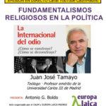 """Tertulia laicista: """"Fundamentalismos religiosos en la política"""""""