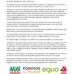 Comunicado conjunto ante la prohibición de las movilizaciones del 8 de marzo