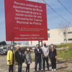 El alcalde de Rivas, junto con los portavoces municipales, visitan la parcela donde irá la Comisaría de Policía Nacional