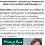 Visita de Mónica García candidata de Más Madrid a Rivas