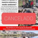 """Cancelada la actividad """"Limpiando el Barrio"""""""