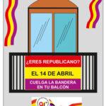 El Ateneo Republicano de Rivas llama a colocar banderas republicanas en los balcones