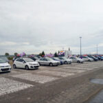 Una caravana de Unidas Podemos recorre el Sureste de Madrid