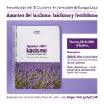 Presentación cuaderno Laicismo y Feminismo