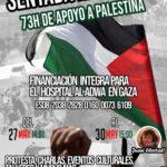 Rivas se sienta por Palestina durante 73 horas.