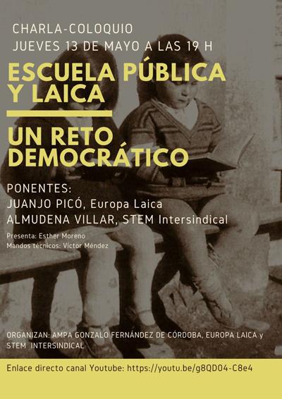 Charla-coloquio Escuela Pública y Laica-Un reto democrático