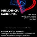 La psicóloga y terapeuta corporal Zaida Brasal ofrece un taller en Covibar sobre inteligencia emocional