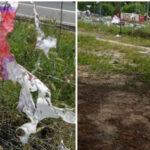 Unidas Podemos denuncia la vandalización en Rivas de una pancarta feminista de la candidatura