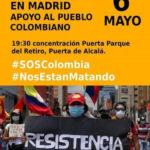 Actos de apoyo al pueblo colombiano