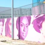 Terminada la réplica en Rivas del mural feminista de Ciudad Lineal