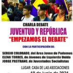 Charla debate sobre Juventud y República