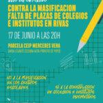 Acto informativo ante la falta de plazas educativas en Rivas