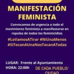 Concentración urgente frente al ayuntamiento de Rivas contra las violencias machistas