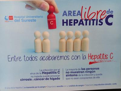 El Hospital Universitario del Sureste realizará un cribado de hepatitis C en el vestíbulo del centro