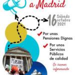Manifestación estatal en Madrid en defensa de las pensiones y de lo público