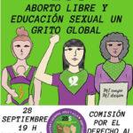 Concentración por un aborto libre y educación sexual