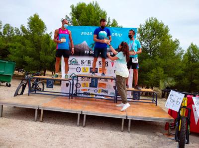 Óscar Lado, ganador de la prueba de Trail Natura 21, en Rivas