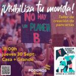 Taller del área joven de Podemos en la Semana de la Juventud