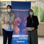 El PP de Rivas y Nuevas Generaciones salen a la la calle con la campaña #SánchezApagaYVete
